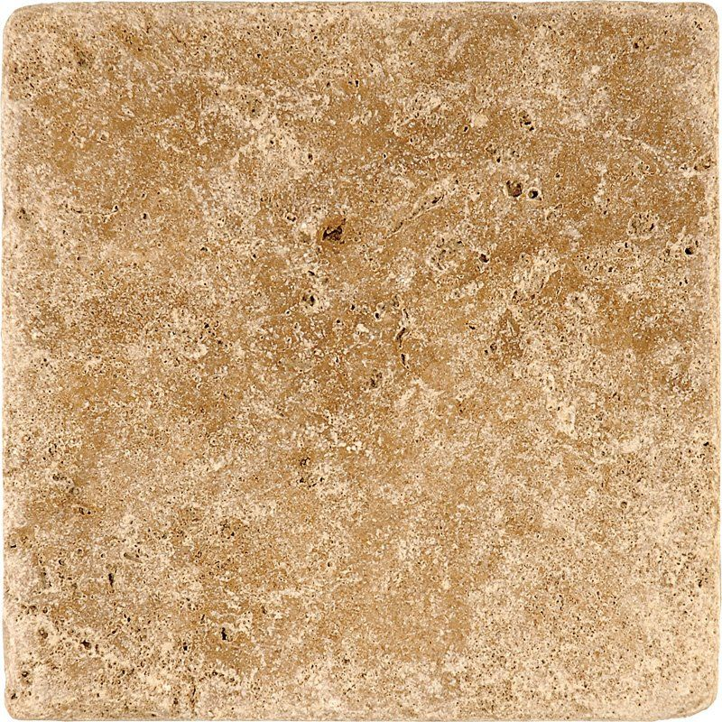 Travertine Tile Noce Tumbled 6x6 In Brown Color