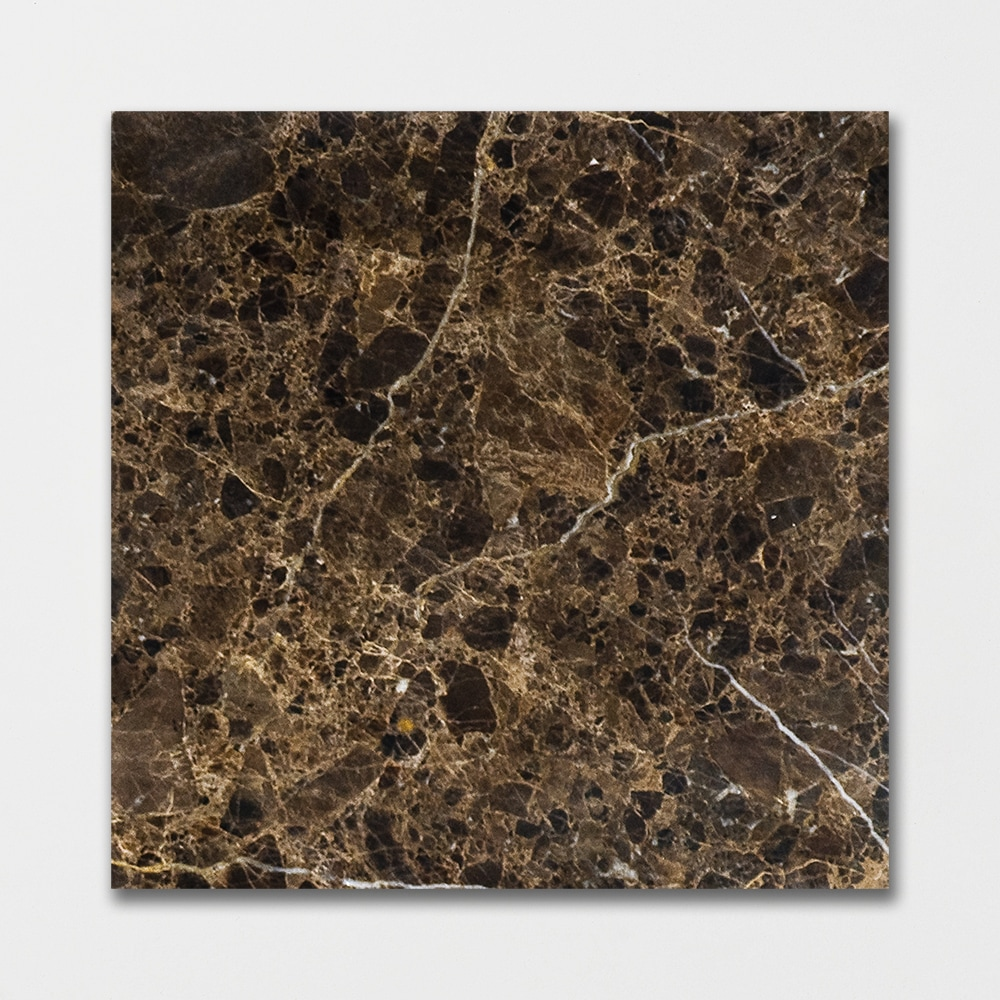 Emperador Dark Polished 12x12 Brown Marble Tile