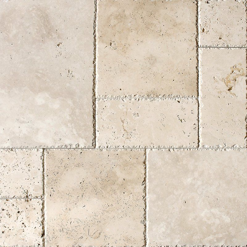 Chiaro Unfilled Chiselled Versailles Pattern Travertine Tiles