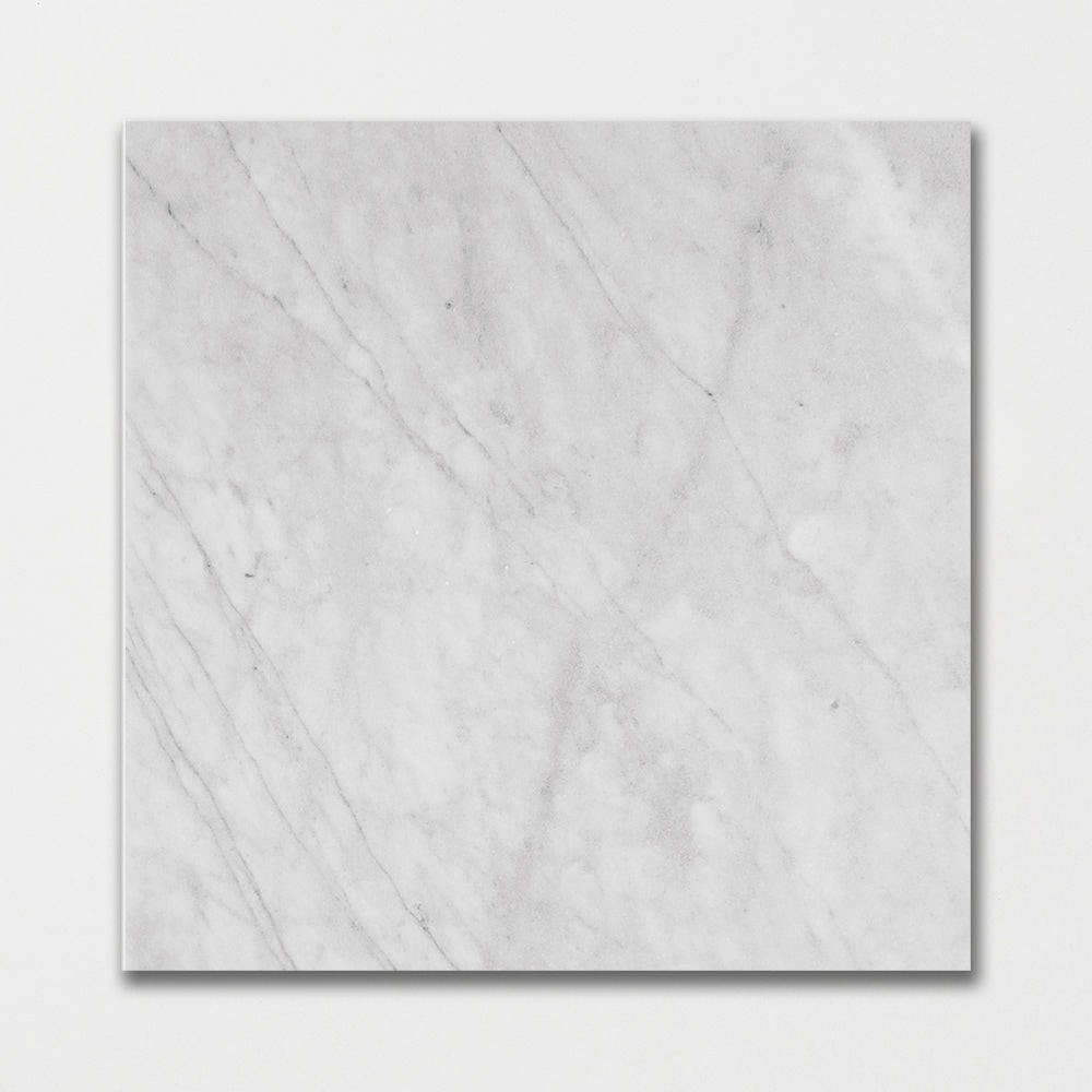 In Stock Marble Tile Carrara T Honed 18x18 In Grey Color