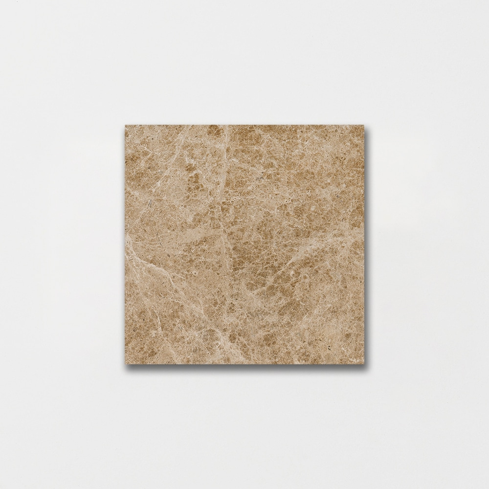 In Stock Marble Tile Emperador Light Polished 4x4 In
