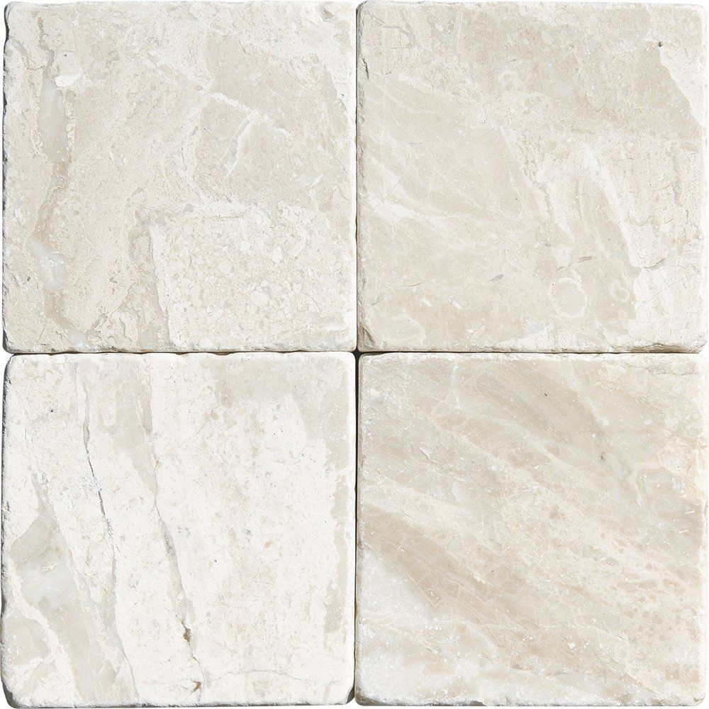 Purchase Royal Beige Tumbled 4x4, Beige Marble Tile