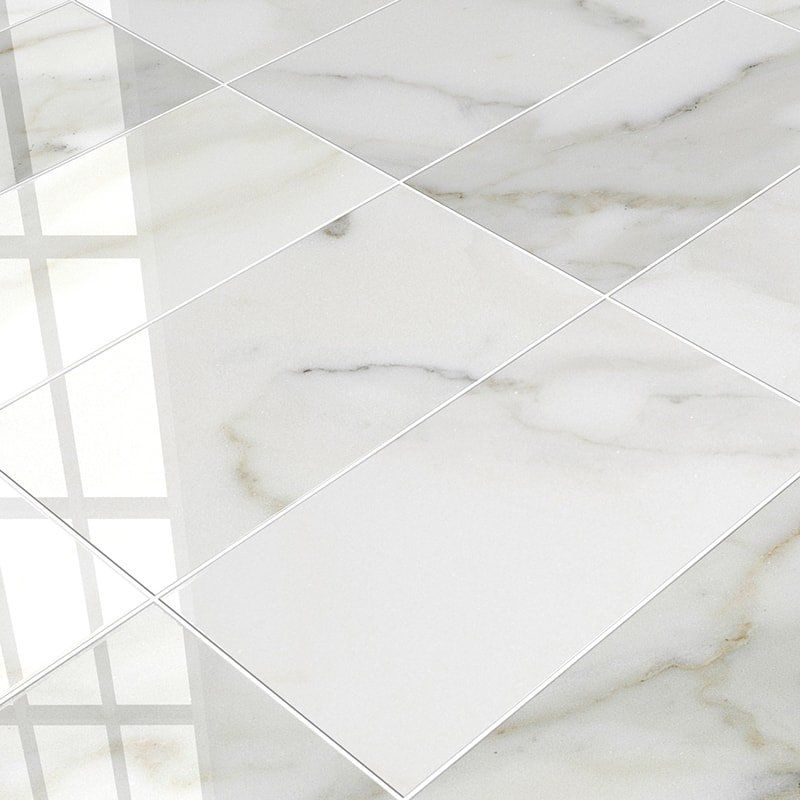 Calacatta Gold Polished 12x24 White