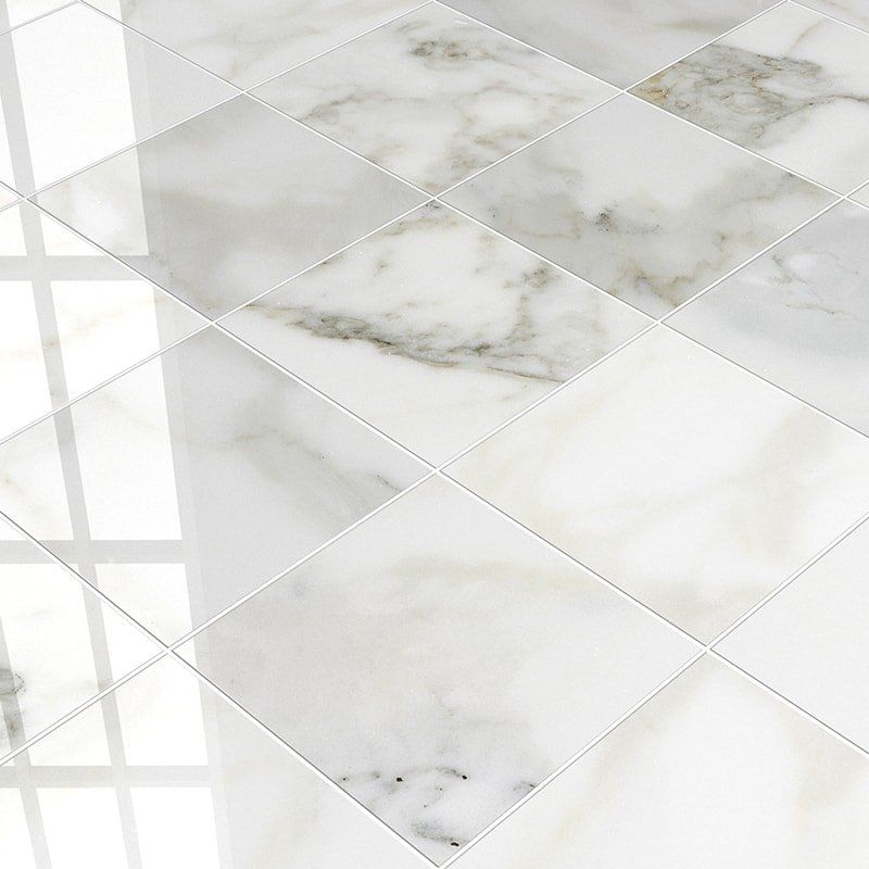 Calacatta Gold Honed 12x12 White Marble Tile