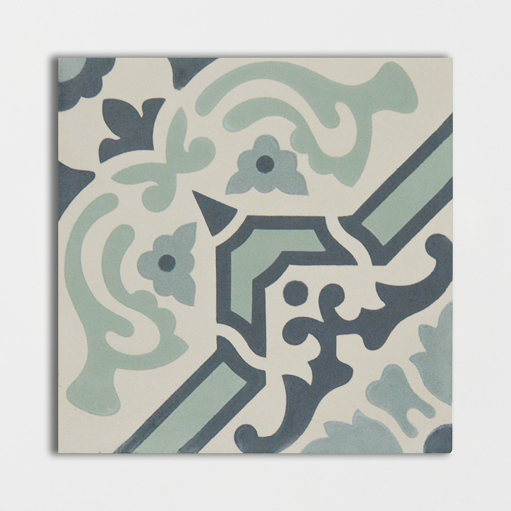 Teal Honed 8x8
