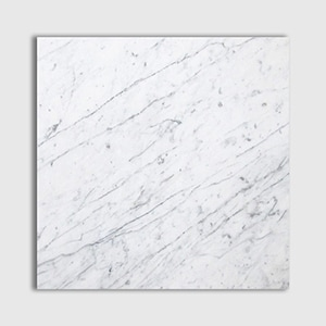 White Carrara Standard Honed 18x18
