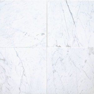 White Carrara Standard Polished 18x18