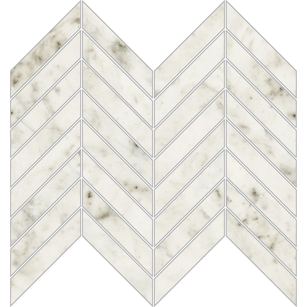 Carrara Blanco Polished 10x11 Chevron