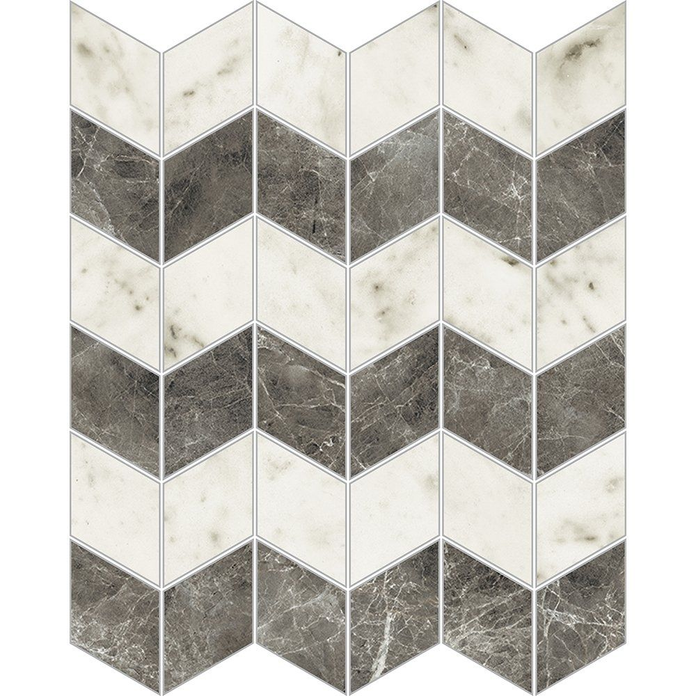 Carrara Blanco Polished 12x13 Zig-zag