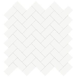 Blanco Marjinal Polished 12x12 Herringbone 1x2