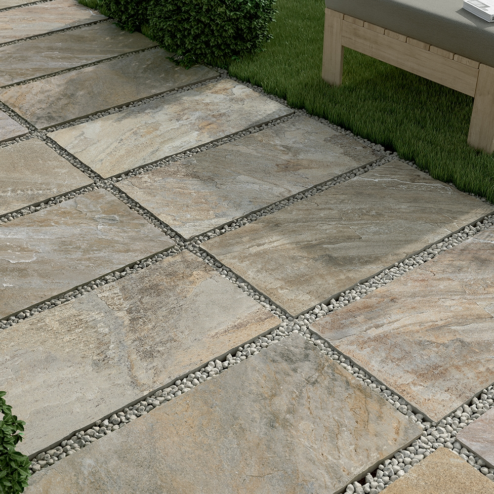 ARDESIA MIX NATURAL PORCELAIN PAVERS (WDC10008)