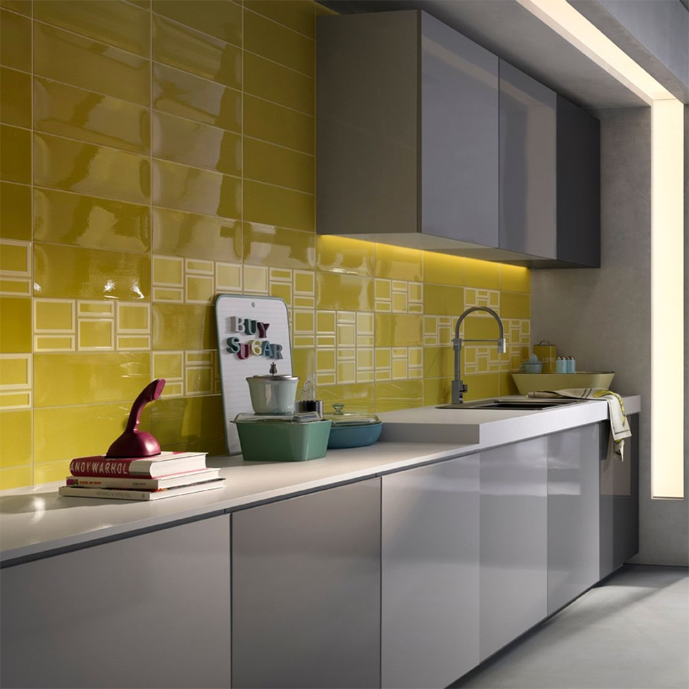 YELLOW GLOSSY CERAMIC TILES (WIM00063)