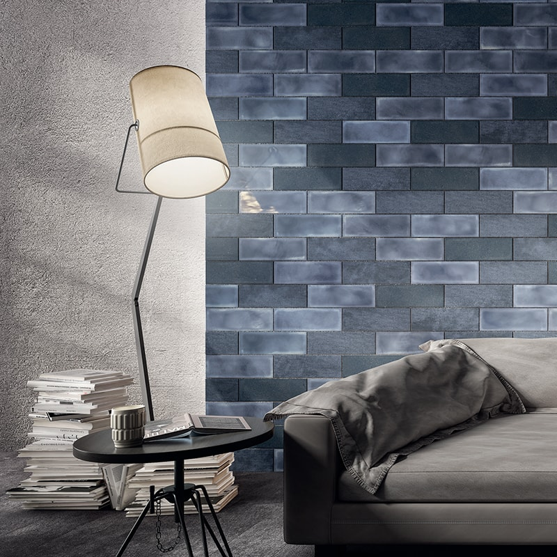 BLU ESERCITO GLAZED CERAMIC WALL DECOS (WIS12376)