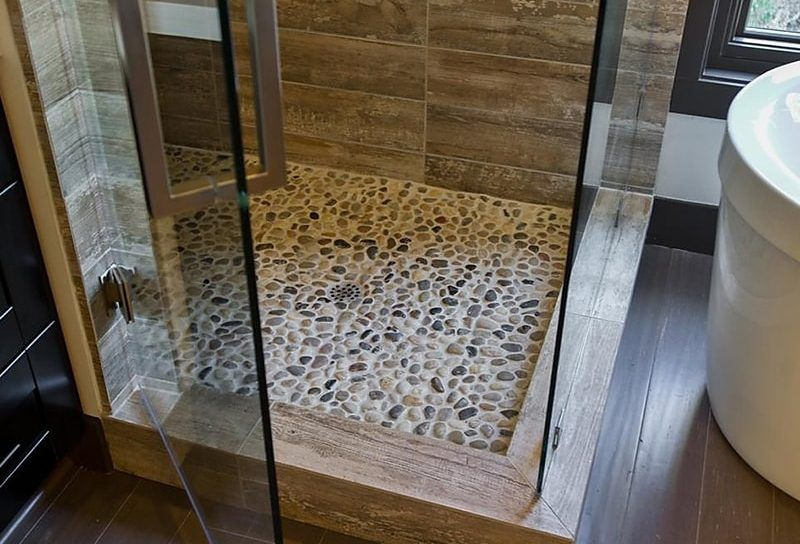 Pebble Tile Pebble Stone Tiles Cons And Pros Of Pebble Tiles
