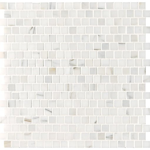 White stone mosaics