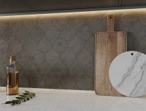 Gray Fousanna Honed 4 7/8×6 13/16 Winter Leaf (NW90028)