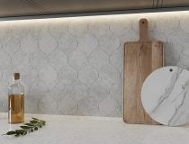 Thala Gray Honed 4 7/8×6 13/16 Winter Leaf (NW90063)
